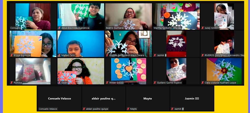 Encuentro virtual con las familias de Urpicha Perú